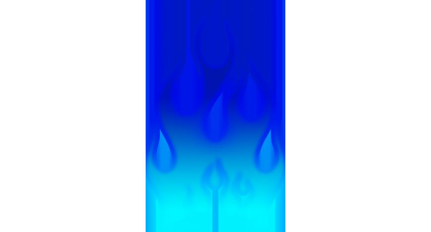 Flames sininen