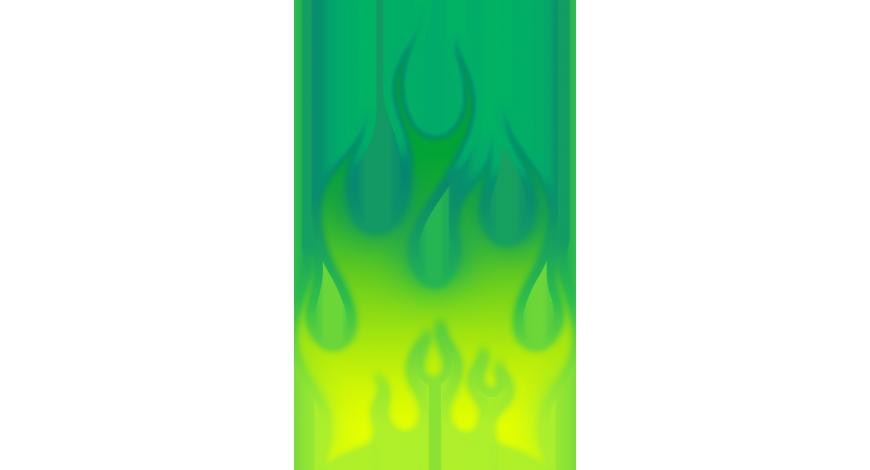 Flames vihreä