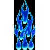 Flame drops sininen