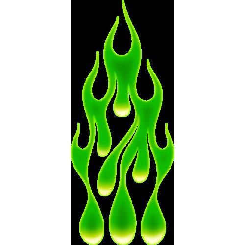 Flame drops vihreä