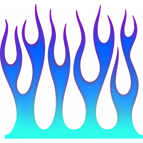 Flame wall sininen