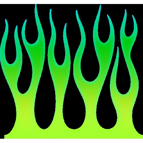 Flame wall vihreä