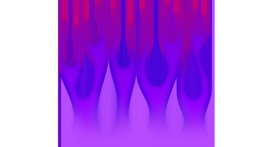Flame wall magenta