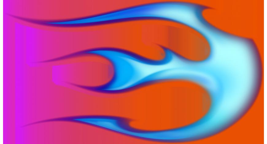 Flame ball oikeanpuoleinen sininen
