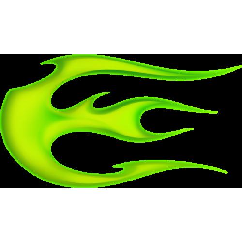 Flame ball vasenpuolinen vihreä