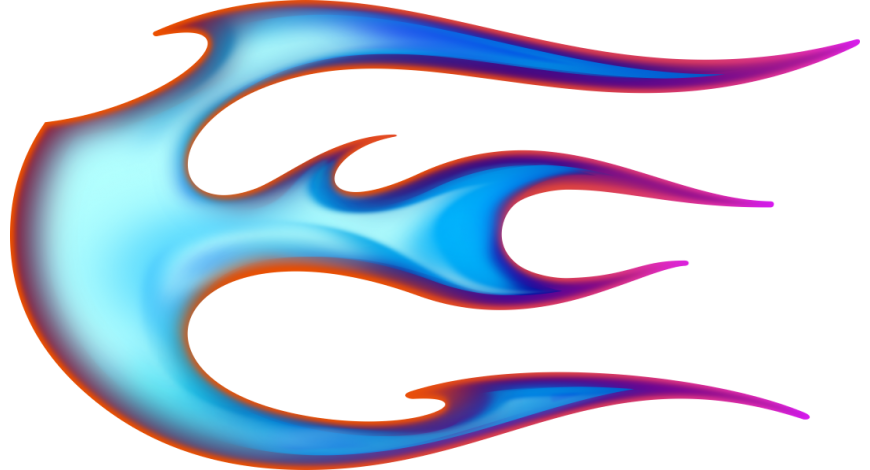 Flame ball vasenpuolinen sininen