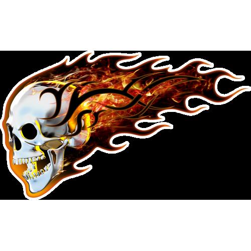 Burning skull vasenpuolinen
