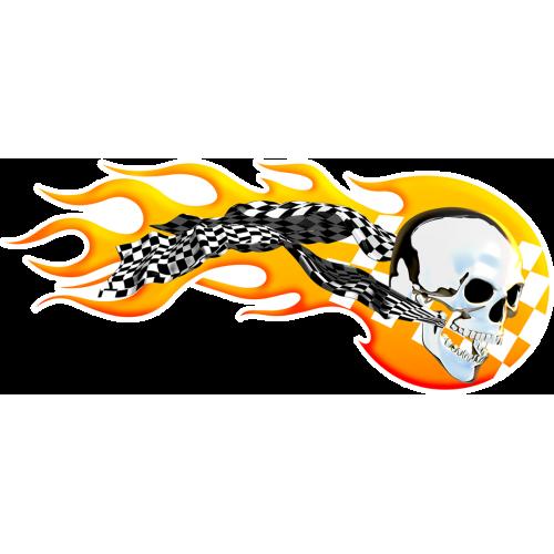 Burning racing skull oikeanpuoleinen